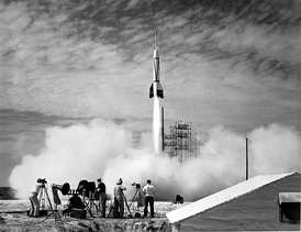 A Bumper V-2 was the first missile launched at Cape Canaveral, on July 24, 1950.