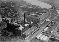 Aerial view of the BEP in Washington, D.C. circa 1918