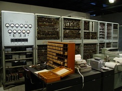 CSIRAC, Australia's first digital computer, displayed at the Melbourne Museum