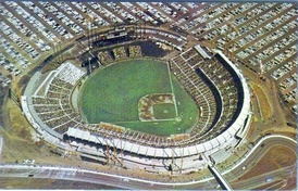 Candlestick as seen shortly after it was built in its original open grandstand configuration before being enclosed.