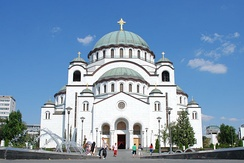 Church of Saint Sava is one of the largest Orthodox churches in the world[238]