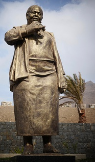 A sculpture of Cesária Évora at the eponymous airport in Mindelo, Cabo Verde.