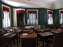 Senate chamber on the second floor of Congress Hall