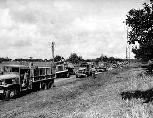 Red Ball Express convoy, 1944