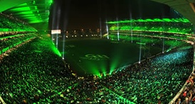 A fireworks and light display was held in Croke Park in front of 79,161 fans on Saturday 31 January 2009 to mark the GAA's 125th anniversary