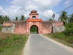The citadel of Dien Khanh, also built by Puymanel in 1793