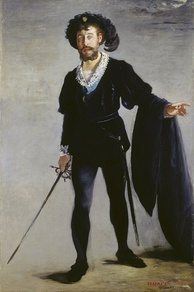 Jean-Baptiste Faure as Hamlet; by Édouard Manet in 1877