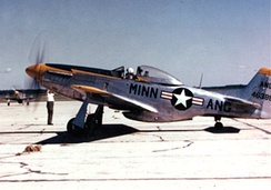 A Minnesota ANG F-51D in the early 1950s.