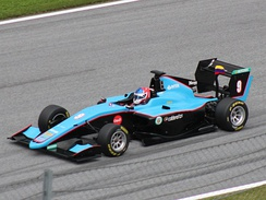 Driving for Jenzer Motorsport at the Red Bull Ring in 2018.