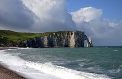The Arche and the Aiguille of the cliffs of Étretat