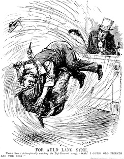 Punch depicts no-holds-barred fight between Taft and Roosevelt