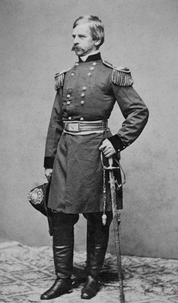 Banks in his military uniform, c. 1861 (portrait by Mathew Brady)