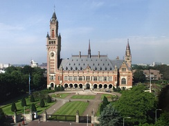 The Peace Palace in The Hague, Netherlands, seat of the ICJ