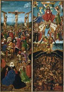 Jan van Eyck, Crucifixion and Last Judgement diptych, c. 1430–40