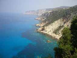 The Ionian Sea, view from the island Kefalonia, Greece