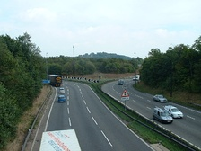 The northern section of the M32 connects to the M4 at a modified roundabout.