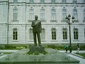 Maurice Duplessis sculpture in front of Parliament Building (Quebec)