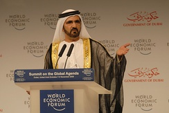 Mohammed bin Rashid Al Maktoum, Prime Minister of the United Arab Emirates and the Ruler of Dubai.