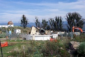 A bushfire destroyed this old telescope in 2003.