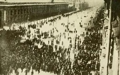 Protesters on the Nevsky Prospekt