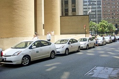 Prius fleet operated by the New York City Department of Transportation