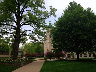 NCC Old Main in Spring 2013