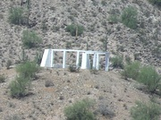 The Gila River War Relocation Memorial on Butte Mountain.