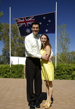 Sam Moran and wife Lyn on Australia Day 2009