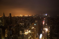 Manhattan suffered a widespread power outage during the storm.