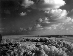 A storm over the Shark River in the Everglades, 1966Photo:Charles Barron / State Library and Archives of Florida
