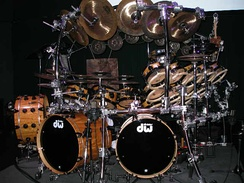 Very large drum kit played by Terry Bozzio