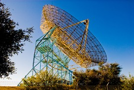 The Dish, a 150 feet (46 m) diameter radio telescope on the Stanford foothills overlooking the main campus