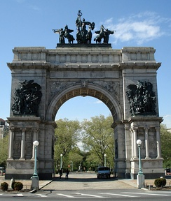 The Soldiers' and Sailors' Arch at Grand Army Plaza