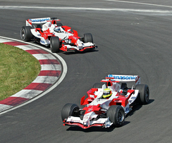 Panasonic was the principal sponsor of the now-defunct Toyota Racing Formula One team