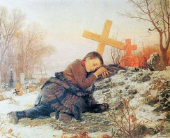 Orphan on mother's grave (1888)