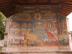 The Last Judgment, mural from Voroneț Monastery, Romania