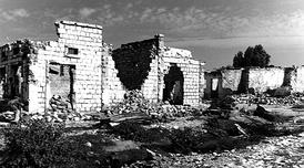 Разрушенные дома в Харгейсе, 1991 год.