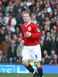 Rooney during Manchester United's 3–1 Premier League win over Manchester City in the derby, in which he scored the game's first goal.