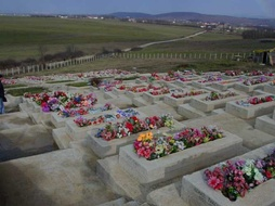Graves of those who died in the Kosovo War in Pristina.