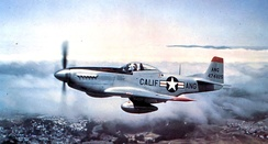 F-51D-30-NA Mustang, AF Ser. No. 44-74825, flying over Northern California, 1948