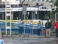 Metro Blue Line departing 1st Street Station.