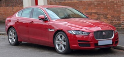 Jaguar cars, including the Jaguar XE as shown, are designed, developed and manufactured in the UK