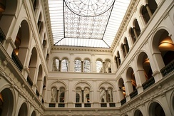 Interior of the National Museum in Wrocław, which holds one of the largest collections of contemporary art in the country