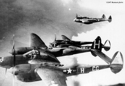 P-38Hs of the 38th Fighter Squadron.