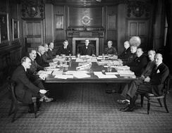 Air Council in session at the Air Ministry in July 1940.