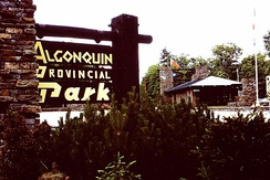 Entrance to Alqonquin Park