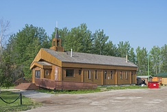 The church in Hay River, Northwest Territories