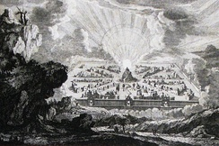 A new heaven and new earth[Rev 21:1], Mortier's Bible, Phillip Medhurst Collection
