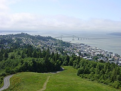 Much of the filming was done on location in Astoria, Oregon, the setting of the film