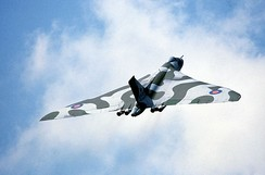 The Avro Vulcan was a strategic bomber used during the Cold War to carry conventional and nuclear bombs.